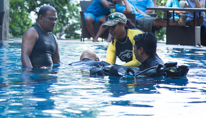 Rescue Training: Safety First at Lembeh Resort