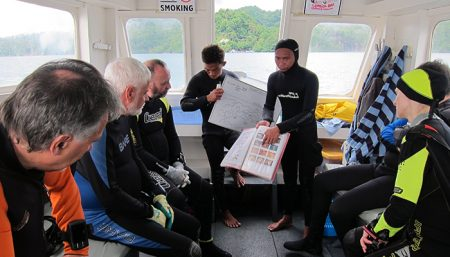 Dive briefing, Critters@lembehresort, Indonesia 2017