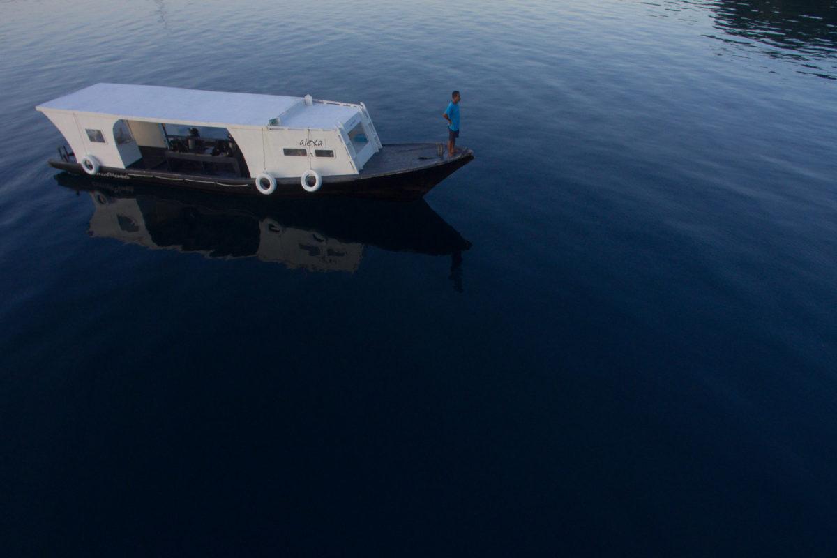 Dive boat Lembeh Strait
