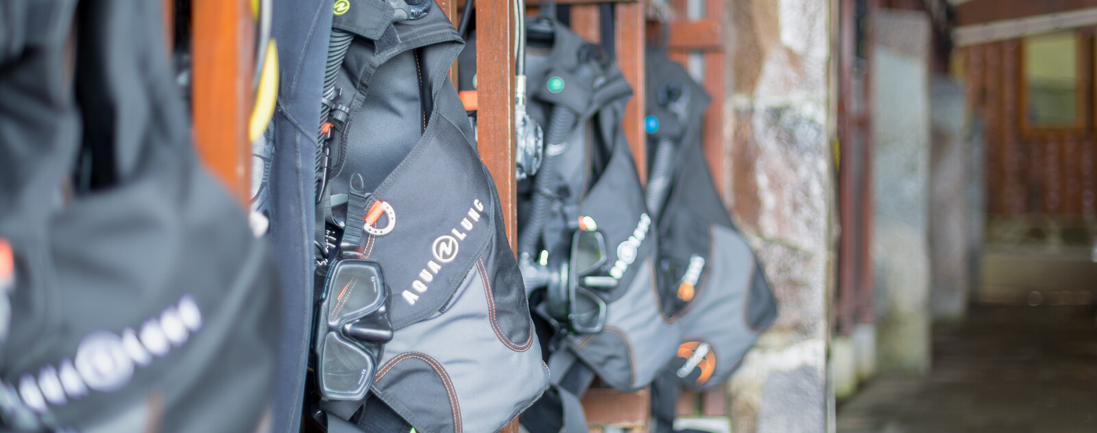 Lembeh Resort Diving equipment lockers