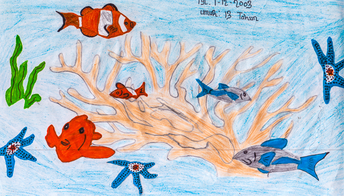 Lembeh Resort drawing competition